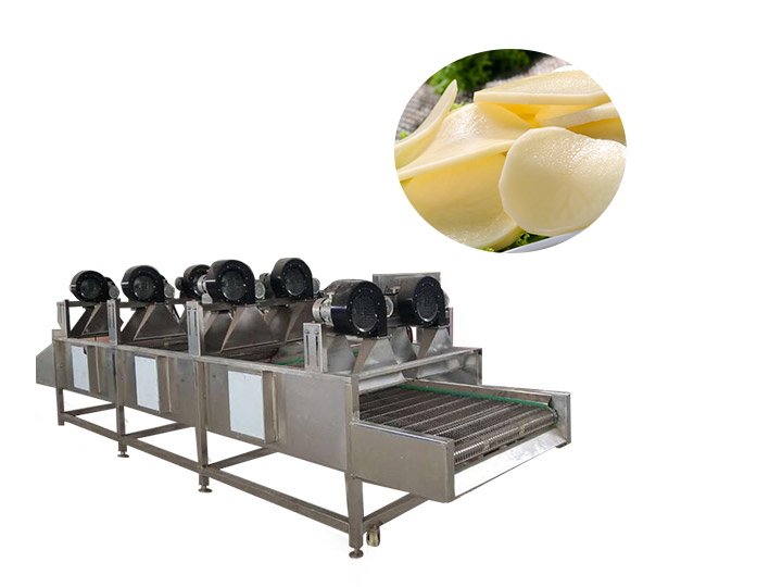 air drying machine for drying potato chips