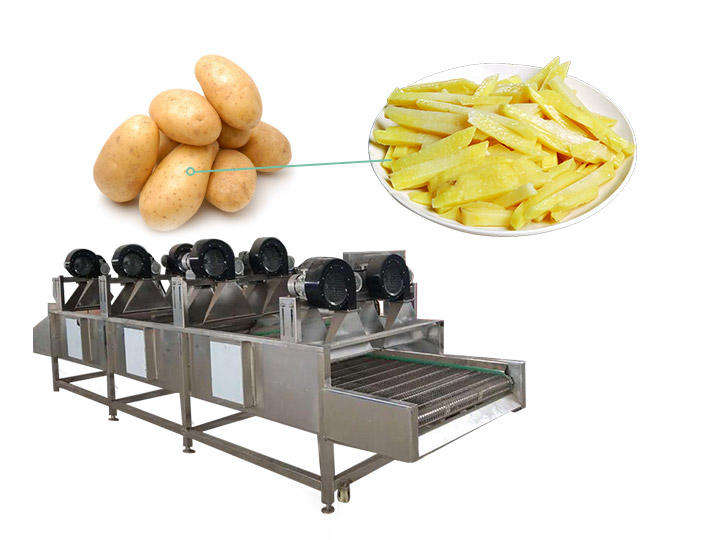 potato strips air drying machinery