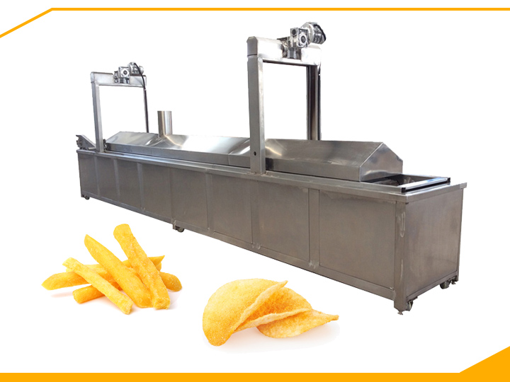 continuous fries frying machine