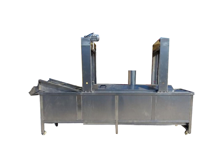 industrial continuous chips and fries frying machine