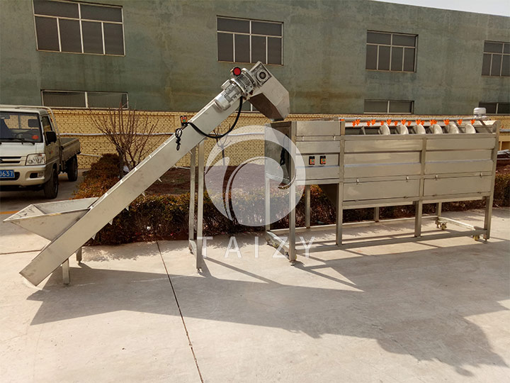 industrial potato washing machine with hoist