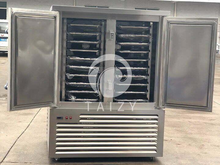 double -door frozen chips freezer