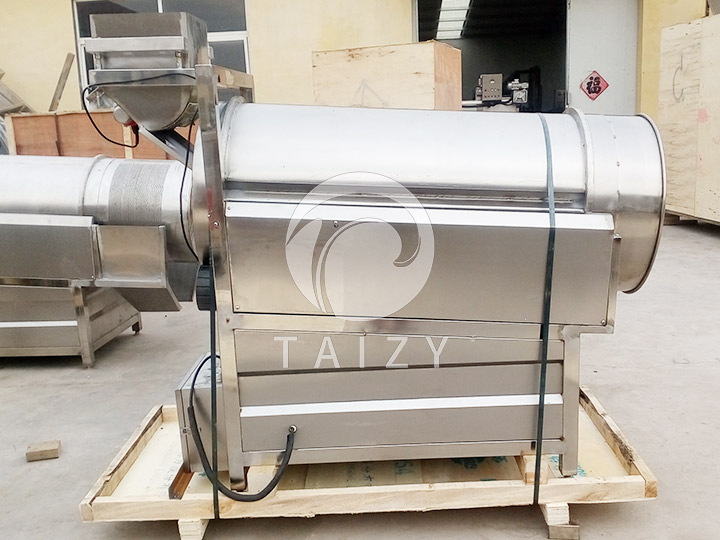 rotary potato chips seasoning machine