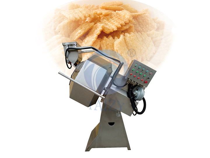 octangle potato chips seasoning machine