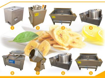 100kg/h banana chips processing line