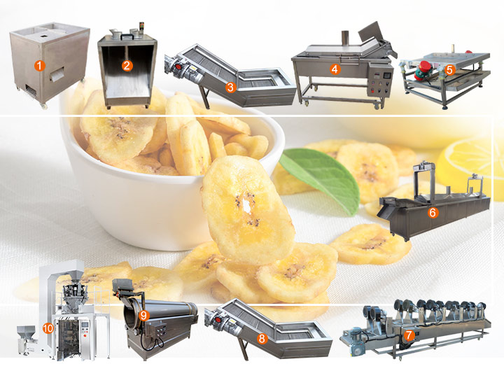 fully automatic plantain chip processing plant