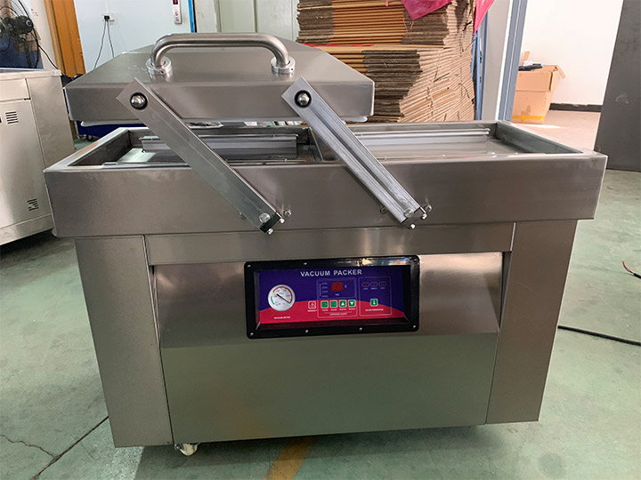 double vacuum chamber packing machine