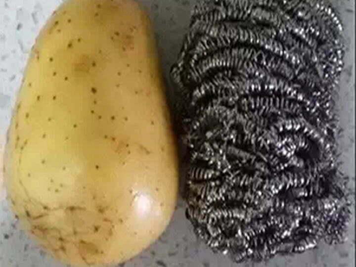 steel wire balls to peel potato