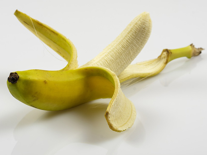 peeled banana usage