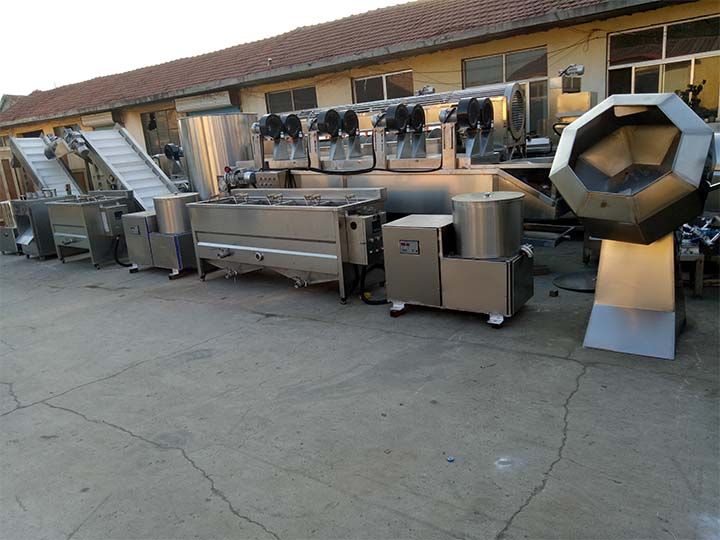200kg small potato chips processing plant in Pakistan