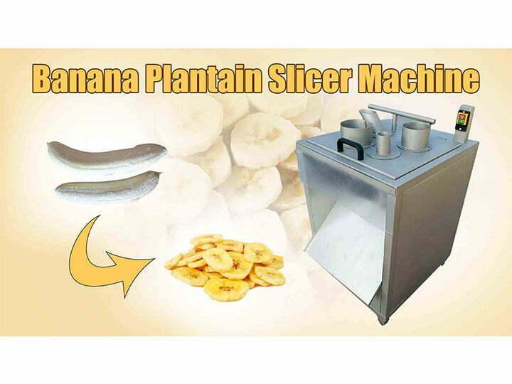 banana plantain slicer machine